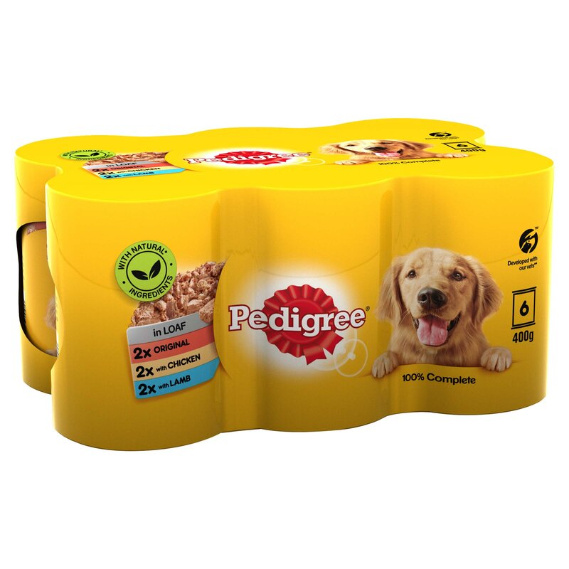 Pedigree Tins Mixed Chunks in Loaf 4 x 6 x 400g