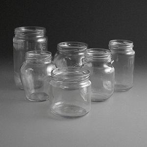 Glass Jars 320ml to 720ml.