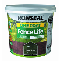 RONSEAL ONE COAT FENCELIFE FOREST GREEN 5 LTR
