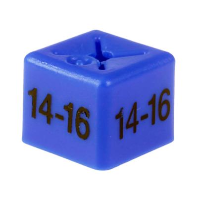 SHOPWORX CUBEX 'Size 14-16' Size cubes - Blue (Pack 50)