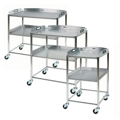 Surgical Trolley with 2 Stainless Steel Trays