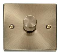 Deco Antique Brass 1G 2W 400W Dimmer