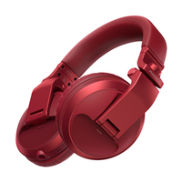 Pioneer HDJ-X5BT-R (Red) | Over-ear DJ headphones with Bluetooth® wireless technology (white)