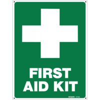 First Aid Kit +  Sign