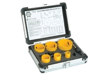FAITHFULL Electricians Holesaw Kit 9 Piece