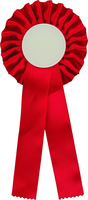 25cm Rosette with 50mm Recess (Red)