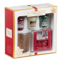 3 Votives, 1 Holder and Tea Lights Gift Set