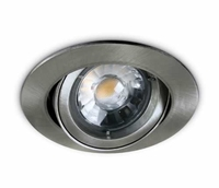 Brushed Chrome Flat Edge Adjustable Downlight | LV1202.0050