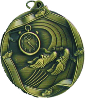 60mm Track Medallion (Antique Gold)