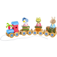Peter Rabbit Wooden Pull Along Train