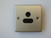 5A 1 Gang Un-Switched Socket INGOT Satin Chrome