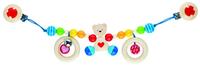 Pram chain Bear w/heart (P/Sng Min 1)