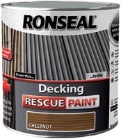 Ronseal Decking Rescue Paint 2.5lt - Chestnut