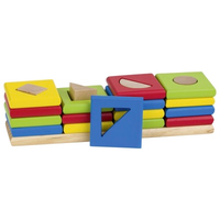 Wooden toddler sorting and stacking toy