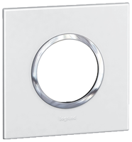Arteor (British Standard) Plate 2 Module 1 Gang Round White | LV0501.0108