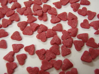 BA 14138 Red sugar heart sprinkles 130g