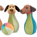 Bowling Game Dogs - close-up image