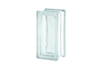 Glass Block Wavy Half Piece 190 x 95mm