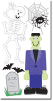 Skeleton & Frankenstein Large Essential Craft Sticker. (Priced in singles, order in multiples of 6)
