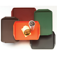 Fast Food Tray with Handle Cranberry 415mm x 315mm