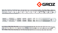 Groz Stainless Steel Ruler 300mm