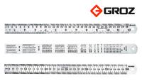 Groz Stainless Steel Ruler 300mm