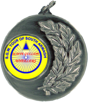 50mm Antique Silver Medallion