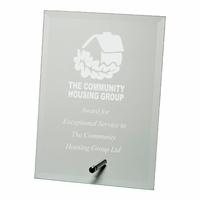 18cm Jade Glass Plaque (Plain Box)