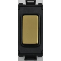 Flatplate Grid Polished Brass 2way Retractable switch|LV0701.1053
