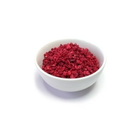 FREEZE DRIED RASPBERRY  PIECES 0-6MM 100 Grams)