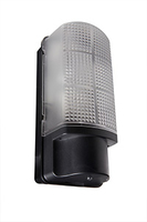 WHITESTAR 60W bulkhead with PIR, IP 44, Black