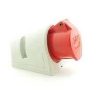 CEE UI3326SRU Wall Socket 32A 400V 4P Red