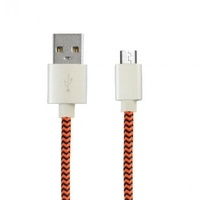 Ksix Micro USB Braided Cable Orange