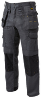 Dewalt Pro­‐Tradesman Knee Pad Holster Trousers - Grey
