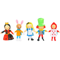Alice in Wonderland - Finger Puppet Set