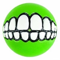 "Rogz Grinz Large Ball Lime Green 3"" x1"