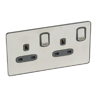 Legrand Synergy Double 13amp Socket Swiched | LV0501.3238
