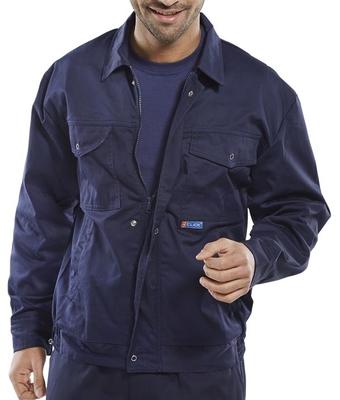 Click Navy Classic Polycotton Work Jacket