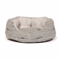 "Danish Design Oval Slumber Bed - Bobble Fleece Grey 35"" x 1"