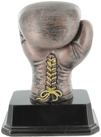 12.5cm Boxing Glove - Bronze/Gold Trim