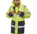 Hi-Visibility Waterproof 2-Tone Nylon Anorak Yellow/Navy