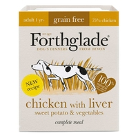 Forthglade Complete Grain-Free Adult Chicken with Liver, Sweet Potato & Veg 395g x 18