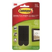 Command Medium Picture Strips Black 4pk - 17201BLK