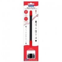 PE033 RED Brush 'n' Fine Pen, Refillable