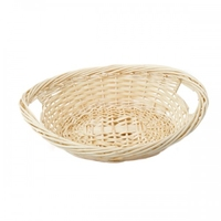 BASKET OVAL LAUNDRY WH 58X45X25CM