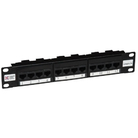Connectix Elite CAT5e Patch Panel 12 Way 10""