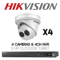 Hikvision IP 5MP 4 Camera Kit - Offer valid untill 27th of July!