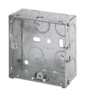 1 Gang 35mm deep Galvanised Steel K.O Box.