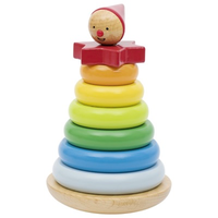 Colourful wooden toddler stacking toy