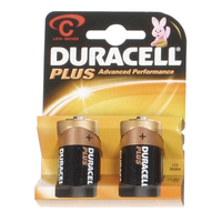 Duracell Plus MN1400 C Battery 2pk